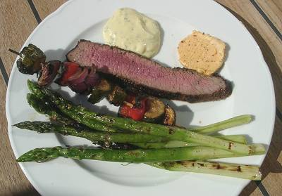 Flanksteak mit Beilagen